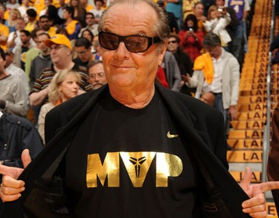 Even thought Jack is wearing this shirt for Kobe, it's still pretty cool. I bet he's a Pujols fan anyway.