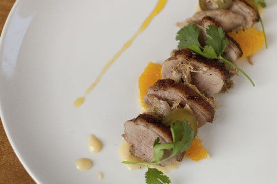 A duck dish at MEDIAnoche - CRYSTAL ROLFE