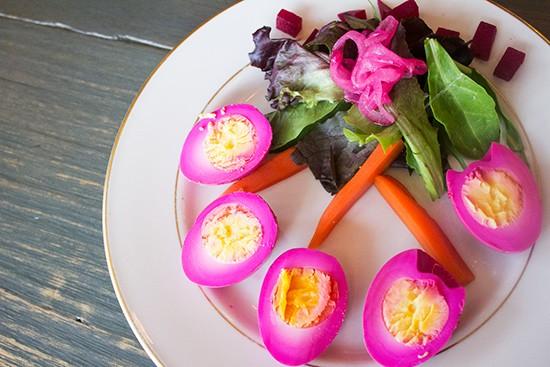 Pickled eggs.