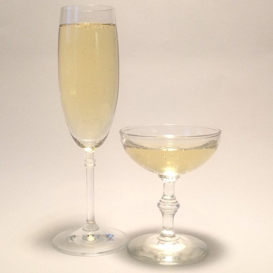 Two glasses of bubbles...hold the eggs. | Patrick J. Hurley