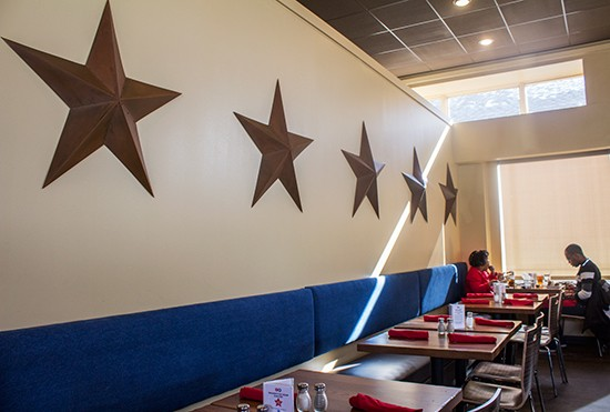 Five stars in the dining room.