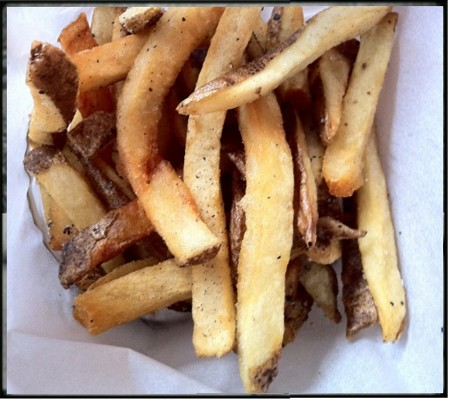 Pommes frites might seem common, but Franco's are uncommonly good -- and cooked in a vegetarian fryer. - BRYAN PETERS
