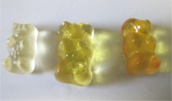 Left to right: control bear, vodka bear, rummy bear. - CHRISSY WILMES