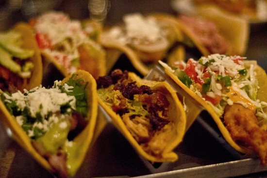 A selection of Mission Taco Joint tacos including fillings such as roasted duck and Baja fish. - MABEL SUEN