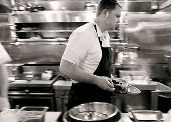 Patrick Connolly in the open kitchen at Basso.   Jennifer Silverberg