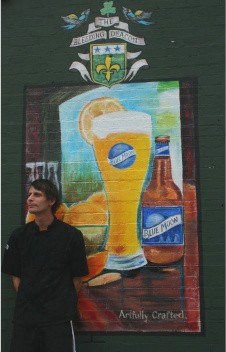 Jeff Robtoy outside the Bleeding Deacon. - CHRISSY WILMES