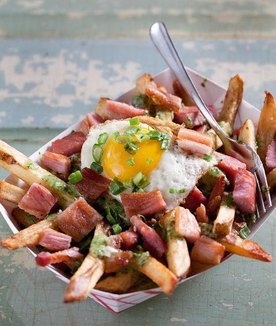 "The ""Green Eggs n Ham"" fries at the Shack - JENNIFER SILVERBERG"
