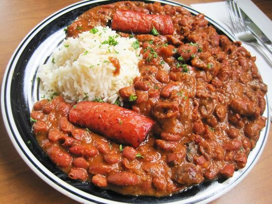 The red beans and rice at Riverbend Restaurant & Bar   Ian Froeb