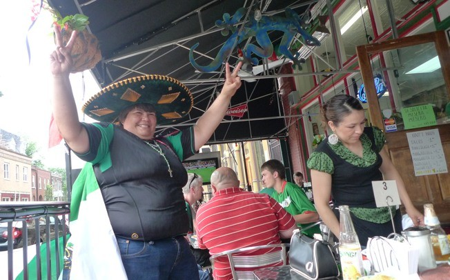 Minerva Lopez is a Mexican superfan. - PHOTO BY KEEGAN HAMILTON