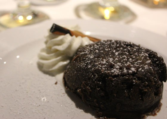Warm chocolate ganache cake. | Nancy Stiles