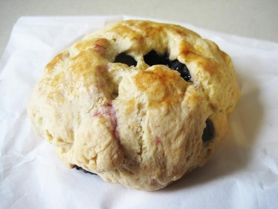 A blueberry scone from La Dolce Via - IAN FROEB