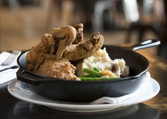 Fried chicken was one of the better dishes.   Jennifer Silverberg
