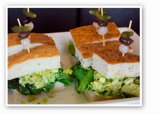 Curried chicken salad sandwiches | Mabel Suen