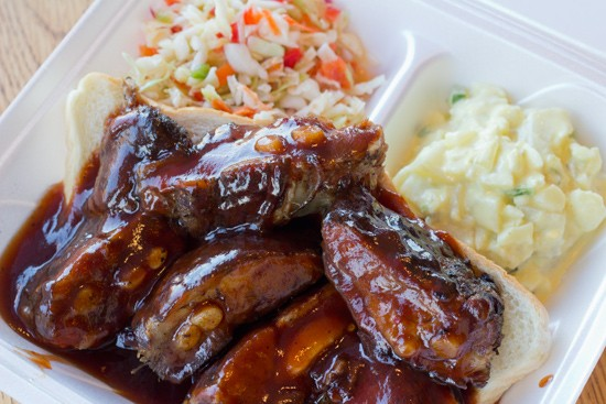 You, too, could be swimming in sauce this weekend at St. Charles Community College's Rhythm & Ribs event. - MABEL SUEN