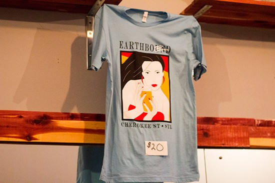 Earthbound Beer shirts are inspired by the space's previous identity as a salon.