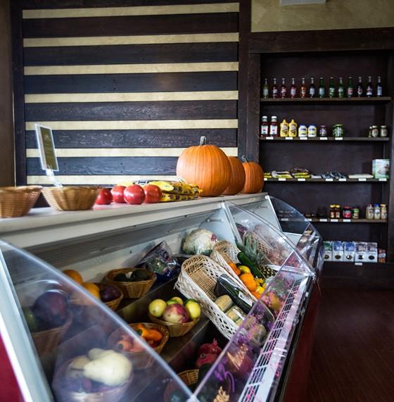 The produce case.   Jennifer Silverberg