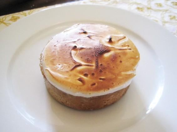 The lemon meringue-pine nut torte from BitterSweet Bakery - IAN FROEH