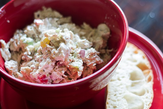 Chicken salad bowl.
