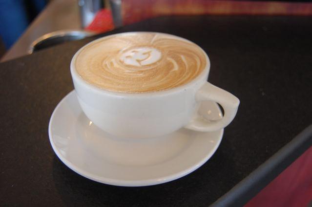The pumpkin-pie latte at Northwest Coffee Roasting Company.   Cheryl Baehr
