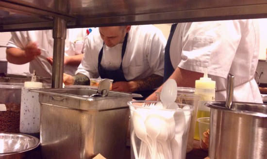 Executive chef Gerard Craft working in Niche's new kitchen at the Clayton location on opening night. - EVAN C. JONES