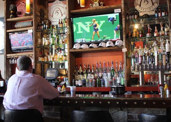 The bar at the Precinct. | Nancy Stiles