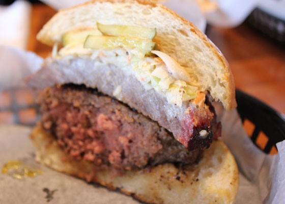 The BBQ Carolina Steak Burger. | Nancy Stiles