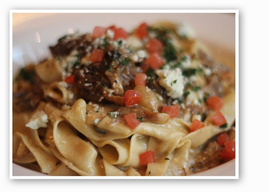 Tagliatelle with short rib ragu and blue cheese cream sauce. | Nancy Stiles