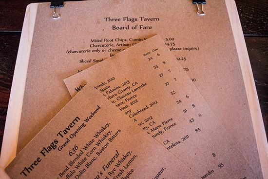 The menus.