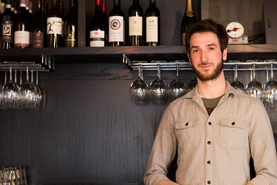 Marketing manager and bartender Robert Harris.