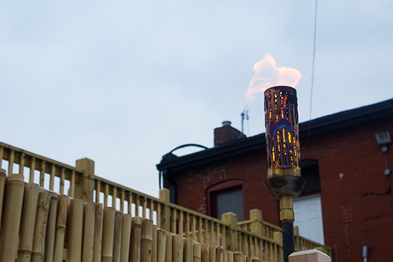 A tiki torch, of course.