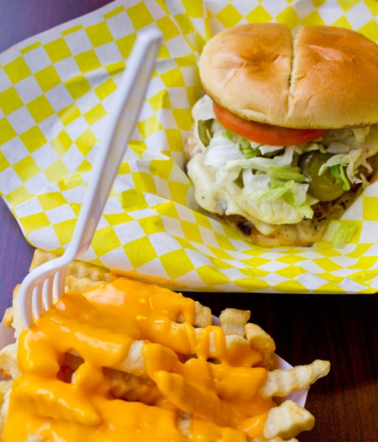 The Chubbie Loco burger with pepper jack and lettuce. - MABEL SUEN