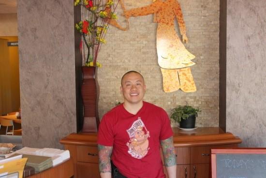 Qui Tran inside his family's Vietnamese restaurant, Mai Lee | Ian Froeb