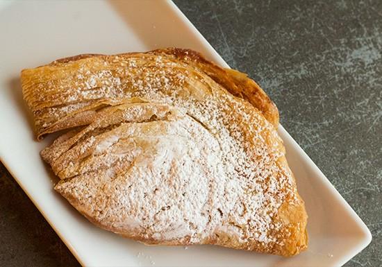 The sfogliatella riccia at Piccione Pastry.   Photos by Mabel Suen