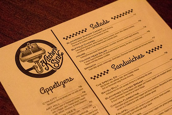 The double-sided menu.