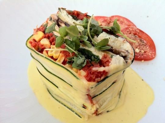 Scape's raw vegetable lasagna = magic - BRYAN PETERS