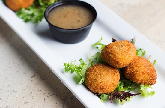 Fried goat cheese.