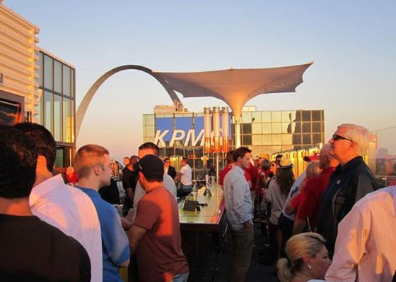 The rooftop bar at Three Sixty St. Louis. | RFT Photo