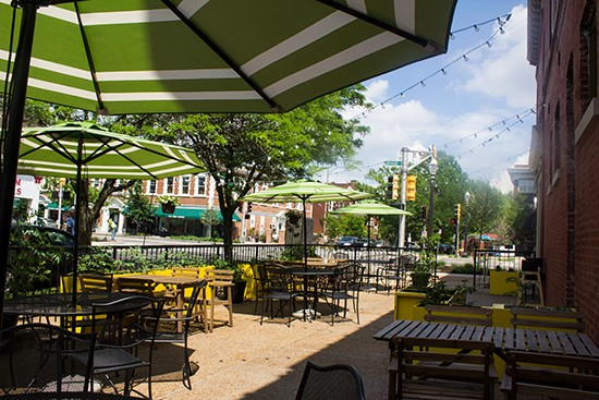 The patio beer garden awaits.