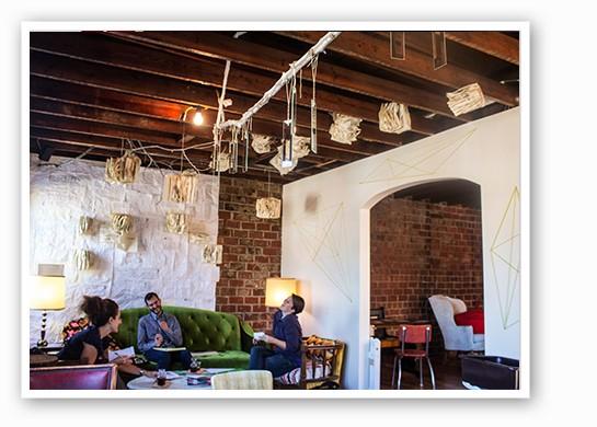 Upstairs seating area. | Mabel Suen