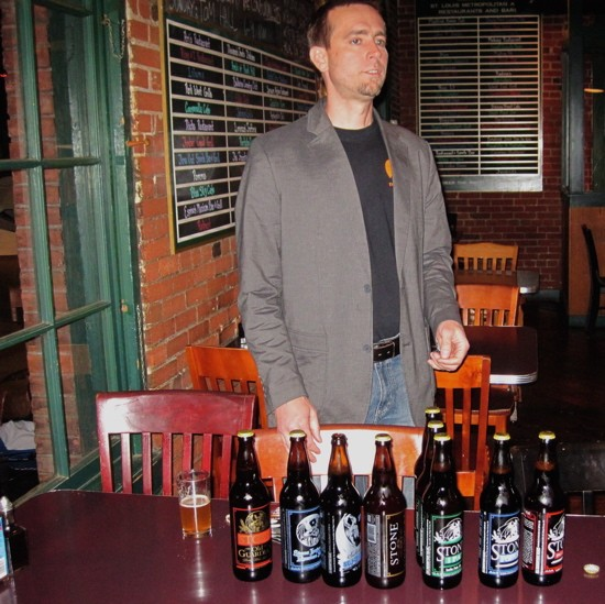 Greg Koch preaches to the craft-beer converted at the Schlafly Tap Room. - DAVE NELSON