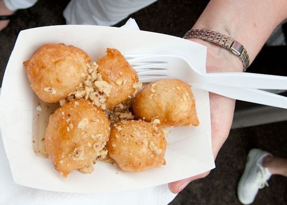 Loukoumades, fried dough topped with cinnamon, sugar, nuts and honey. | Jon Gitchoff