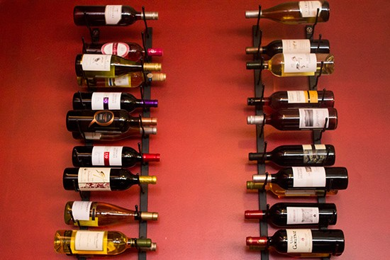 A selection of wine.