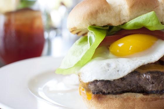 "The ""Rue Royale Heifer"" burger.   Caroline Yoo"