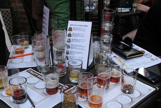 The remnants of a food and beer pairing | image via Deschutes