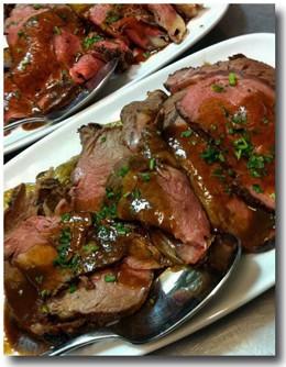 Chris Bork's prime rib with roasted fingerling potatoes. - HOLLY FANN