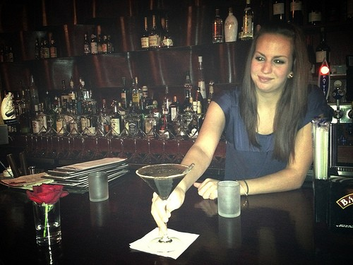 Therina presents the Mexican Chocolate martini. - JAIME LEES