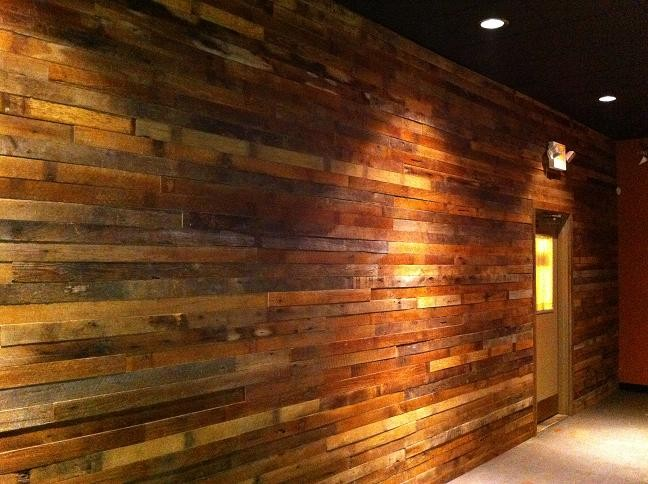 Reclaimed barn wood defines the new look at Milagro. - PHOTO COURTESY ADAM TILFORD