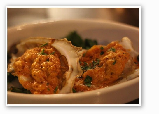 Booker's flame-broiled oysters. | Nancy Stiles