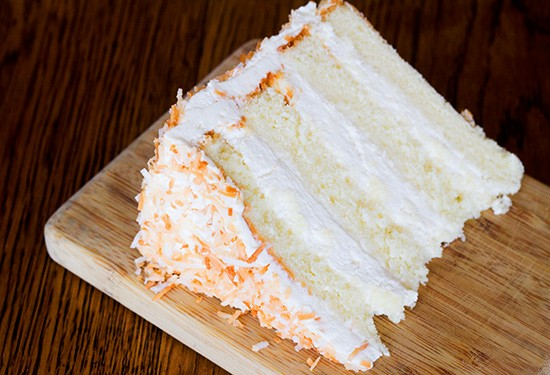 The coconut cake at Russell's on Macklind. | Photos by Mabel Suen