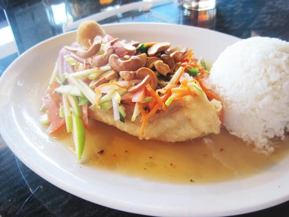 The pla song kruang at Basil Spice Thai Cuisine - IAN FROEB